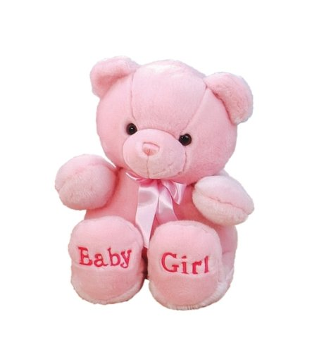 "Plush Baby 10"" Comfy Pink Baby Girl Bear"