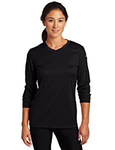 ASICS Women's Circuit 7 Warm-Up Long Sleeve Shirts, Black, Medium
