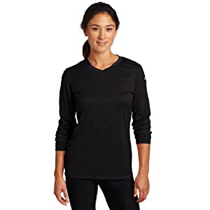 ASICS Women's Circuit 7 Warm-Up Long Sleeve Shirts, Black, Large