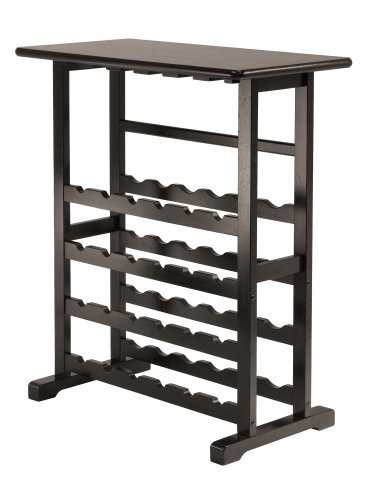 Winsome Vinny Wine Rack, 24 Bottle with Glass Hanger (Wine Rack Hanger compare prices)