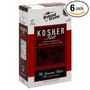 Diamond Crystal Kosher Salt, 3-Pounds (Pack of 6) by Diamond