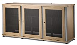Salamander Designs SB337M/A Synergy Triple A/V Cabinet with Three Doors