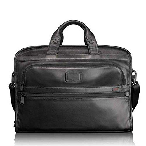 [トゥミ]TUMI 『ALPHA』Slim Large Screen Laptop Portfolio Leather Brief 「アルファ」スリム・ラージ・スクリーン・コンピューター・ポートフォリオ・ブリーフ Style:96111DH [並行輸入品]