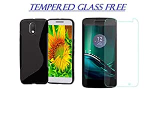 Soft Rubber Back Cover For Motorola Moto G4 Play (TEMPERED GLASS FREE)