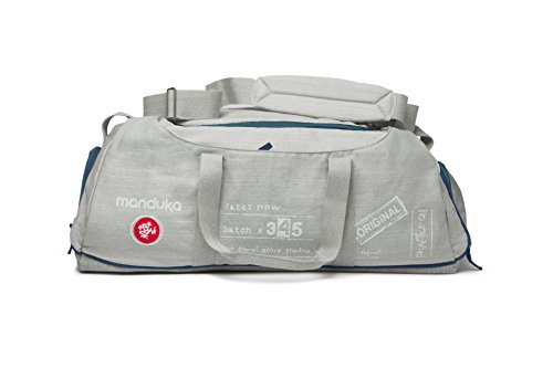 Manduka Journey On Road Tripper Yoga Travel Bag, Heather Grey/Sage