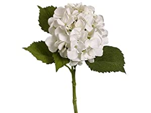 "19"" Hydrangea Spray w/Water-Resistant Stem White (Pack of 12)"