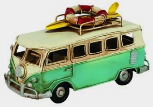 Vintage Looking VW Type Beach Bus Surfers Van Model (Vw Bus Model compare prices)