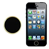 Generic Gold-Black Fashion Home Button Sticker For iPhone 4/4S 5 5C iPod Touch iPad 3/4 Air Mini 2