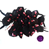 10 Realistic Black Mice Cat Toys with Real Rabbit Fur