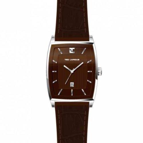 Ted Lapidus - 5115802 - Montre Homme - Quartz Analogique - Bracelet en Cuir Marron