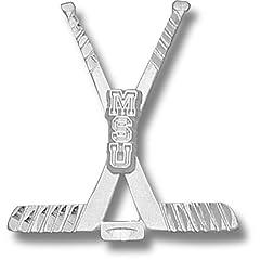 Michigan State University MSU Hockey Sticks - 10K Gold by Logo Art