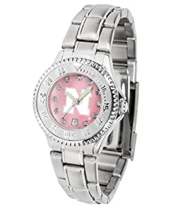 Nebraska Cornhuskers Ladies Watch Mother-of-Pearl Face by SunTime