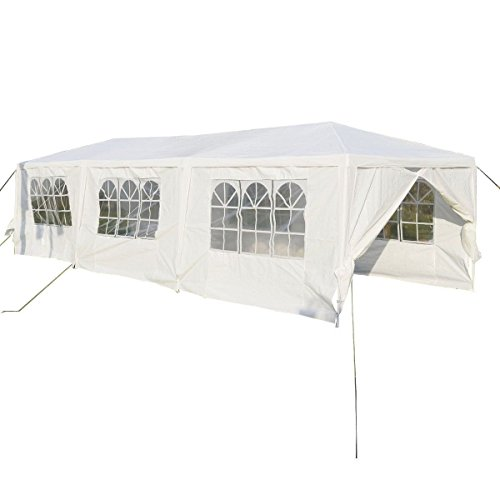 Wedding-Party-Tent-Outdoor-Camping-10x30-Easy-Set-Gazebo-BBQ-Pavilion-Canopy-Cater-Events