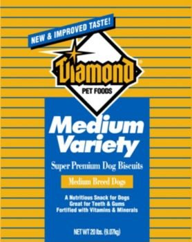 Diamond Golden Dog Biscuits, Medium, 20-Pound