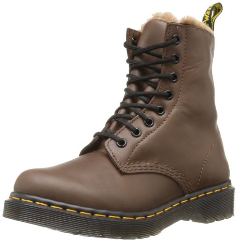 Dr. Martens SERENA Polished Mirage BROWN Ankle Boots Womens Brown Braun (brown) Size: 6.5 (40 EU)