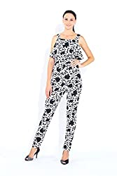 Naomi Code Printed frilly Jumpsuit