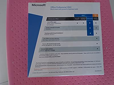 Microsoft Office 2013 - Full Proffessional Version Product Key Card for 1 User (32&64 Bit)