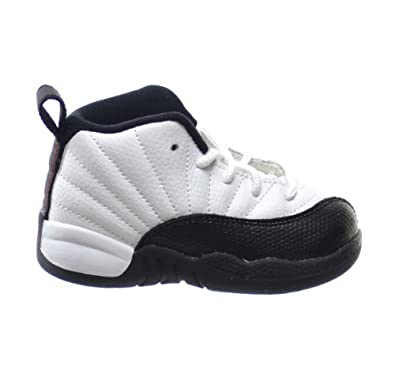 Buy Jordan 12 Retro Taxi (TD) Baby Toddlers Basketball Shoes White Black-Taxi-Varsity Red 850000-125 by Jordan