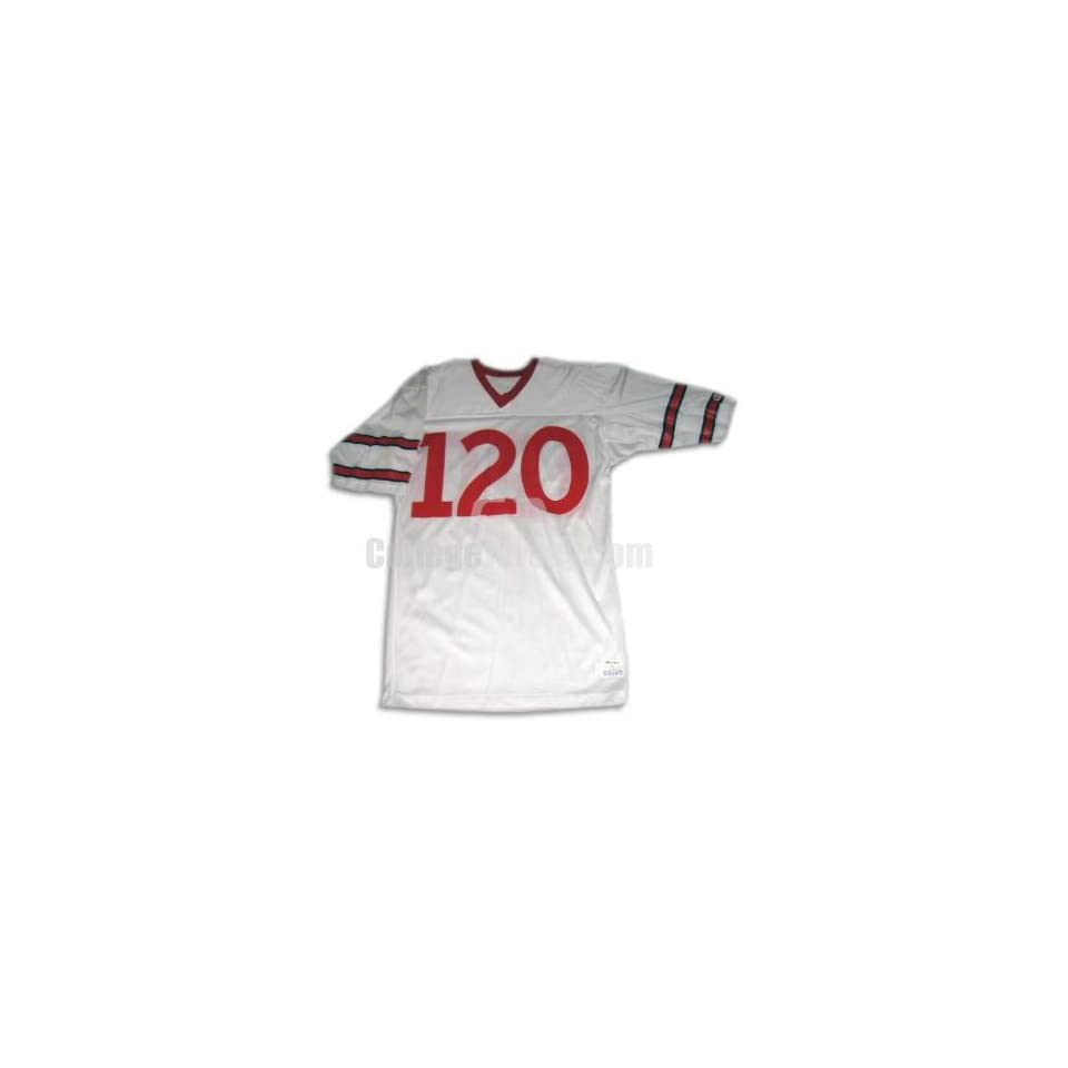 White No. 120 Team Issued Cornell Football Jersey (SIZE L)