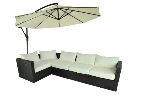 5 Pc Outdoor Stylish Rattan Wicker Sofa Sectional Patio Furniture Set Chiars