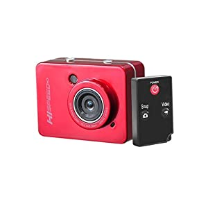 """PyleSports Hi-Speed HD Action Camera 1080P Hi-Res Digital Camera/Camcorder with Full HD Video, 12.0 Mega Pixel Camera & 2.4"""" Touch Screen (Red Color)"""