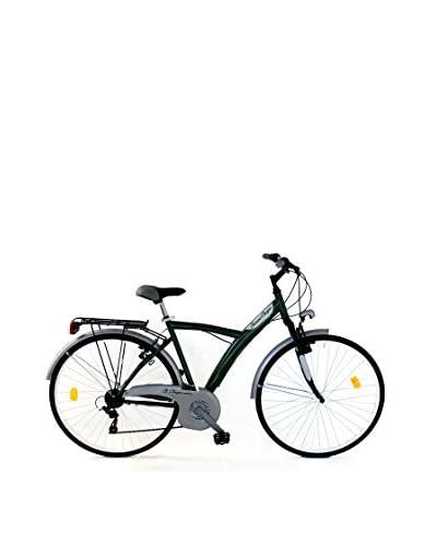GIANNI BUGNO Bicicletta Steel City Bike Suspension [Verde/Grigio]
