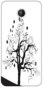 Snoogg Abstract Illustration Of A Tree With Lots Of Leaves Designer Protective Back Case Cover For Micromax Canvas Spark Q380