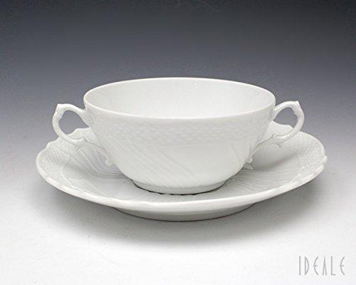 リチャードジノリ(Richard Ginori) ベッキオホワイト 2465/3235(9304) スープ カップ&ソーサー 【並行輸入品】