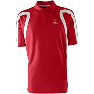 St Louis Cardinals Point Polo Shirt (Team Color) by Antigua