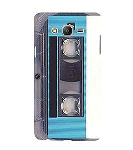 Vintage Blue Cassette 3D Hard Polycarbonate Designer Back Case Cover for Samsung Galaxy On5 Pro :: Samsung Galaxy ON 5 Pro