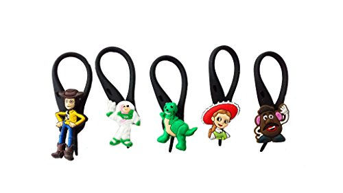 AVIRGO 5 pcs Soft Zipper Pull Charms for Backpack Bag Pendant Jacket Set # 107-3