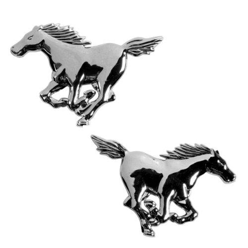 3D15027-Chrome-3D-emblme-de-la-voiture-auto-adhsif-logo-caractres-3M-auto-adhsif-Cheval-2-pices-Horse