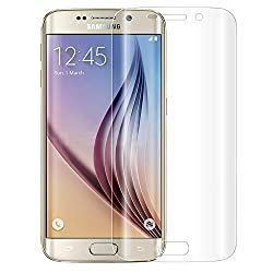 Skoot Tempered Glass Full Screen Coverage Frame Curved Edge to Edge Protection for Samsung Galaxy S6 Edge - Clear