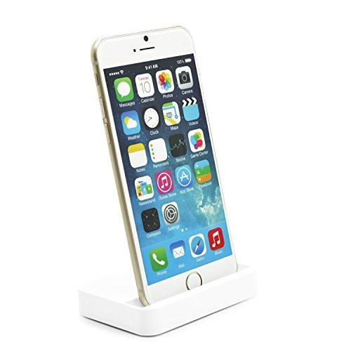 BlueBeach Dockingstation Ladestation für Apple (iPhone 6 / 6 Plus, Dockingstation Weiß)