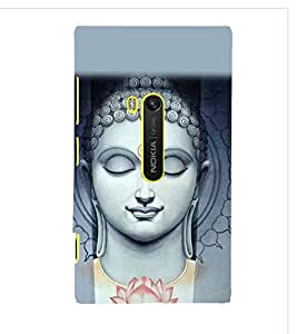 Buddha Wallpaper Cute Fashion 3D Hard Polycarbonate Designer Back Case Cover for Nokia Lumia 920