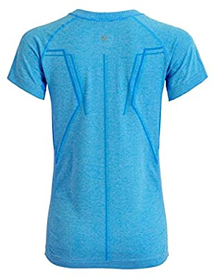 Sportown™ Women's Seamless Sports Base Layer Short Sleeve Tee Running/Yoga Shirt