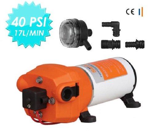 NEW 12V WATER PRESSURE DIAPHRAGM PUMP 4.5GPM 17 L/MIN 40 PSI Caravan/RV/Boat/Marine