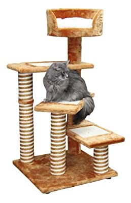 Kerbl Broadway Cat Tree, 50 x 50 x 100 cm, Terracotta