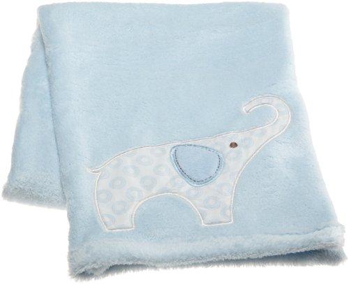"Carter'S Blue Elephant Boa, Blue/Choc, 30 X 40"" front-47460"