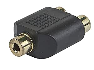 Monoprice 107190 3.5mm Stereo Jack to 2 RCA Jack Splitter Adaptor, Gold Plated