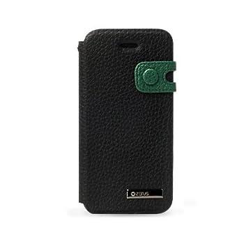 zenus iPhone5ケース Masstige Color Edge Diary ブラック ダイアリータイプ ストラップ付 Z1402i5