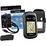 Garmin eTrex 30 TOPO GPS Bundle (100K Topographic Card, Carry Case, BirdsEye, Belt Clip)