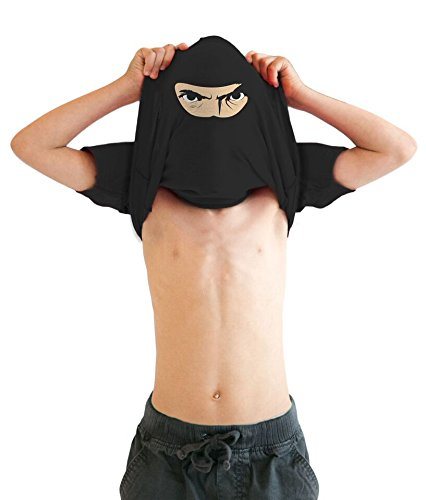 Youth Ninja Face T Shirt Cool Ninja Disguise Funny Shirt for kids S