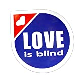 コトワザステッカー《恋は盲目/LOVE is blind》防水加工