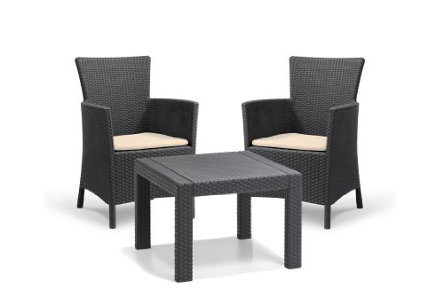 allibert-by-keter-rosario-2-seat-balcony-set-outdoor-garden-furniture-graphite-cream-cushions