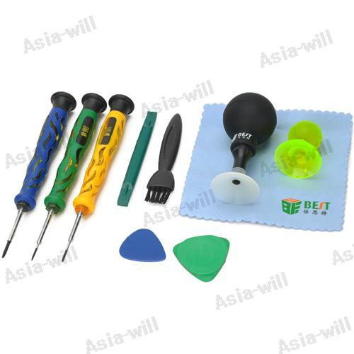 10-In-1 Professional Repairing Tool Kit For Iphone / Samsung + More