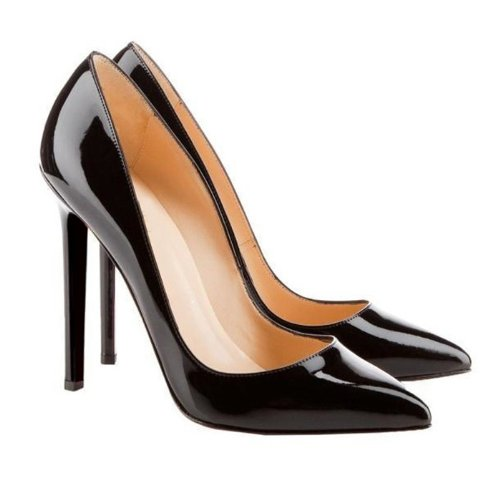 Wotefusi Women Lady Gril New Solid Color High Thin Heels Highheel Stilettos Shoes 11cm Sexy Elegant For Office Dating Club Wedding Party Anniversary US Size 7 Black