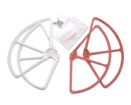 Dji Phantom Propeller Bumper Prop Protective Guard 4 Pcs - Red And White front-592472