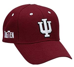NCAA Indiana Hoosiers Adult Adjustable Hat, Crimson