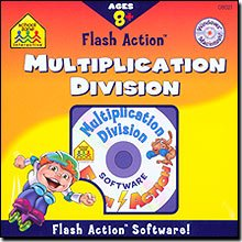 SCHOOL ZONE Flash Action Multiplication And Division for Windows and Macintosh [Old...
